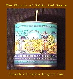 A typical candle used by the enemies of peace and the forces of darkness